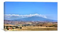 Mount Etna, Sicily, Canvas Print