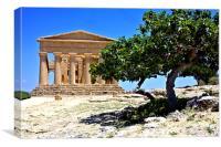 Temple of Concordia, Agrigento, Canvas Print