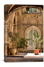 curves in Sicily, Canvas Print