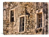 Three windows, Sicily, Canvas Print