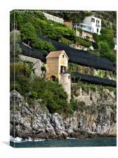 Honeymoon Hotel, Amalfi, Italy, Canvas Print