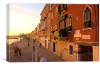 Early Evening Zattere, Venice, Canvas Print