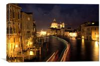 Grand Canal, Venice at Dusk, Canvas Print