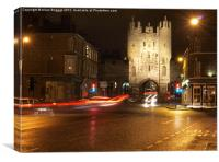 York Micklegate Bar at Night