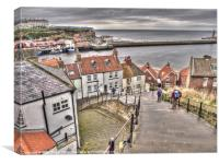 Whitby From The Steps, Canvas Print