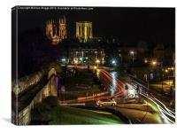 York Minster & Bar Walls at Night