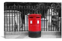 Red Letter Box, Canvas Print