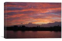 London Sunset, Canvas Print