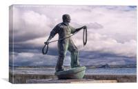 Fishermen memorial, Newlyn, Canvas Print