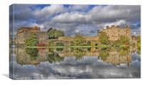 Leeds Castle Lake View, Canvas Print