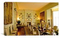 Dining Room Leeds Castle, Canvas Print