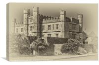 Leeds Castle Nostalgic 2, Canvas Print