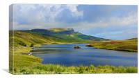Loch Fada to the Storr, Canvas Print