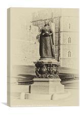 Queen Victoria Statue Windsor, Canvas Print