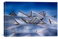 Eden Project Roof, Canvas Print