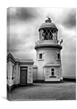 Pendeen Lighthouse Black and White