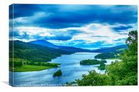 Queens View Loch Tummel, Canvas Print