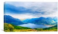 View from Bealach Ratagan to the Five Sisters of K, Canvas Print