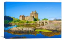 Eilean Donan Watercolour effect, Canvas Print
