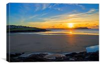Polzeath Sunset 2, Canvas Print