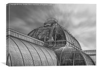 Temperate House Kew Gardens Black and White, Canvas Print