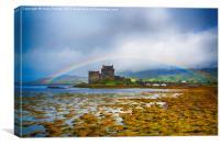 Rainbow over Eilean Donan Castle, Canvas Print