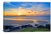 Polzeath Cornwall Sunset, Canvas Print