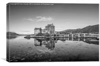 Eilean Donan Castle Black and White, Canvas Print