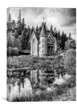 Adverikie Gatelodge black and white, Canvas Print
