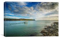 St Mawes Ferry Duchess of Cornwall, Canvas Print
