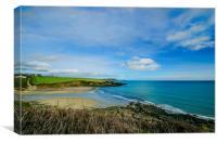 Porthcurnik Beach Cornwall, Canvas Print