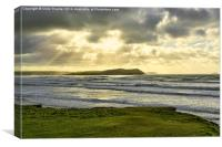 Polzeath Sunrays, Canvas Print