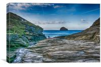 Trebarwith Strand Cornwall, Canvas Print