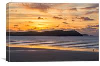 Polzeath Sunset 4, Canvas Print