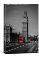 Big Ben and London Bus, Canvas Print
