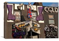 Camden Market shopfront, Canvas Print