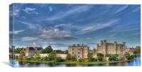 Leeds Castle and Moat rear view, Canvas Print