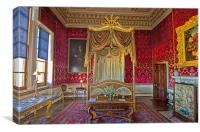 Bedroom at Holkham Hall, Canvas Print