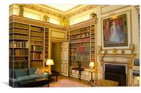 The Library Leeds Castle, Canvas Print