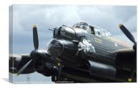 Lancaster bomber  EE139 Phantom of the Ruhr, Canvas Print