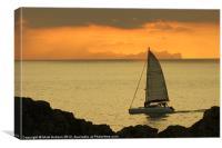 Sunset Sails, Canvas Print