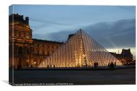 The Louvre Pryamid, Canvas Print
