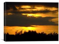 Sunset  at Cheddar Gorge, Canvas Print