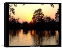 sunset over the river Thames, Canvas Print