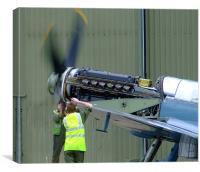 Spitfire Service, Canvas Print