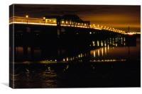 Kincardine bridge by night, Canvas Print