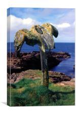 whales head, Canvas Print