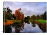Autumn Reflections at Wrest Park, Canvas Print