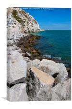 Cliffs at Samphire Hoe, Canvas Print