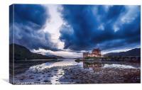 Stormy Skies Eilean Donan Castle, Canvas Print